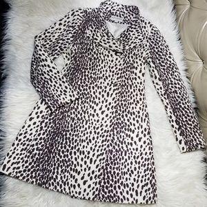 Banana Republic Cheetah Print Coat /Raincoat Sm